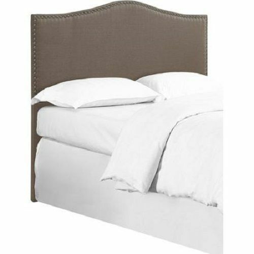 upholstered headboard bed bedroom furniture frame full queen king sizes new ebay. Black Bedroom Furniture Sets. Home Design Ideas