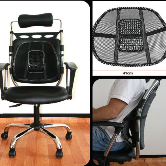 Useful Vent Cushion Mesh Back Lumbar Support Car Office Chair Truck Seat Blac