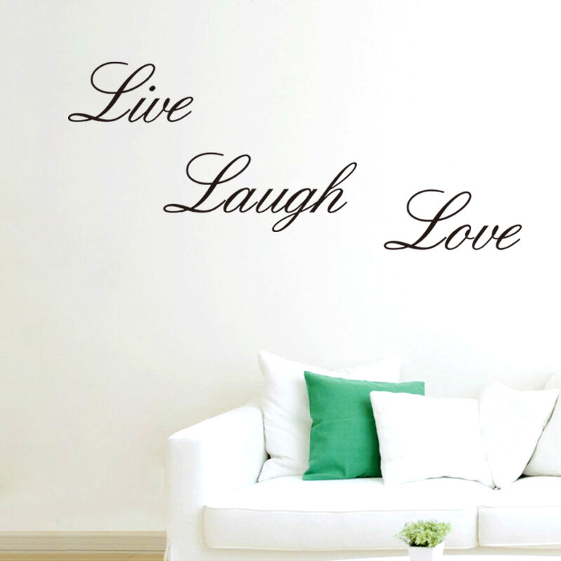 live laugh love vinyl decal art diy wall sticker home wall words letters decor ebay. Black Bedroom Furniture Sets. Home Design Ideas