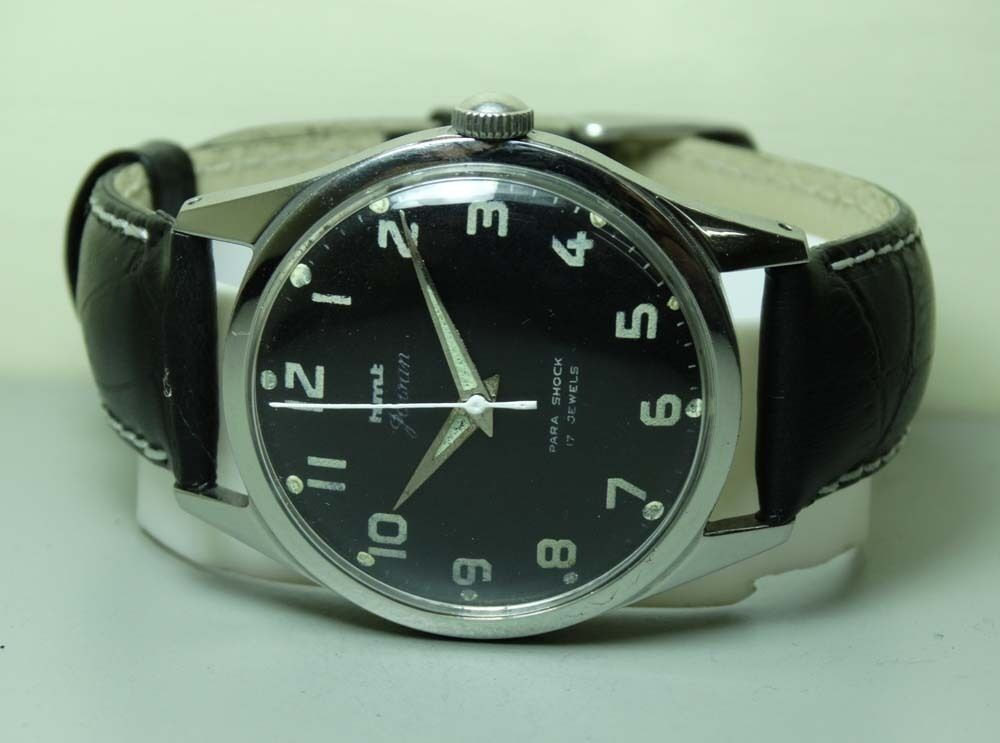 VINTAGE MILITARY HMT WINDING 17 JEWELS MENS GC02041 WATCH ...