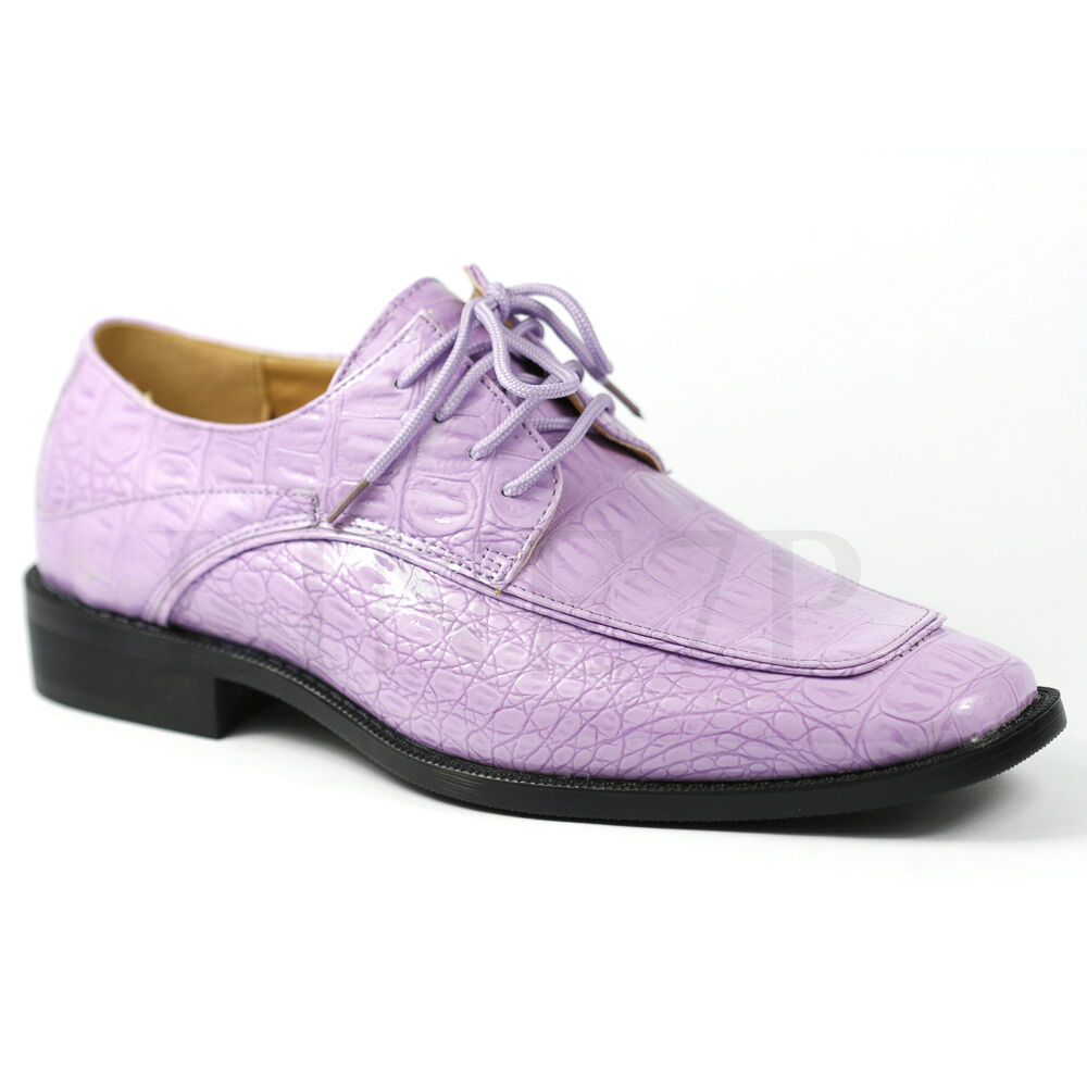 s lavender purple lace up fashion dress shoes roberto