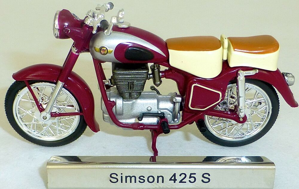 simson 425s motorrad moped 425 s rot ddr 1 24 atlas. Black Bedroom Furniture Sets. Home Design Ideas