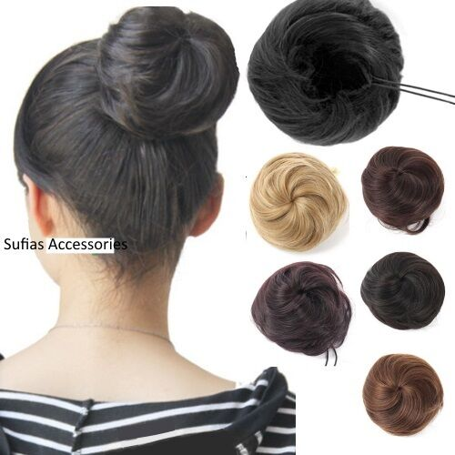 Large Drawstring Hair Bun Cover Hairpiece Clip In
