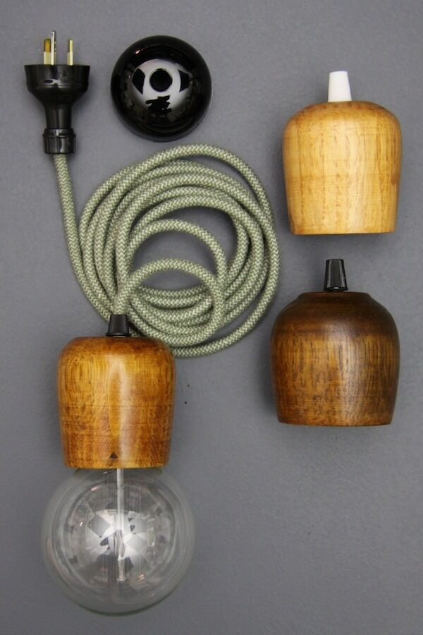 wooden light pendant 3 m cloth cord hanging lamp fabric wire. Black Bedroom Furniture Sets. Home Design Ideas