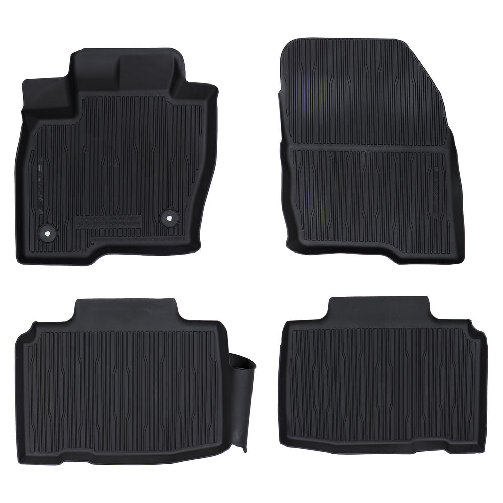 2015 2016 Ford Edge Black Rubber All Weather Floor Mats