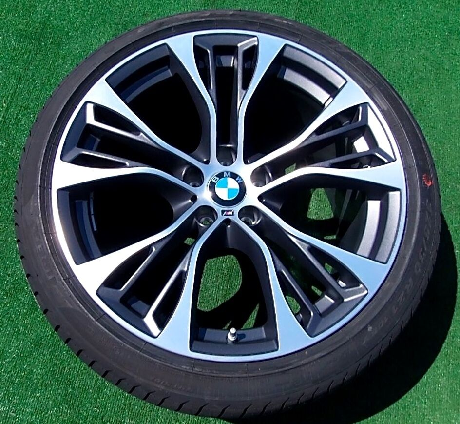new oem bmw forged x5 m performance double spoke 599m 21. Black Bedroom Furniture Sets. Home Design Ideas