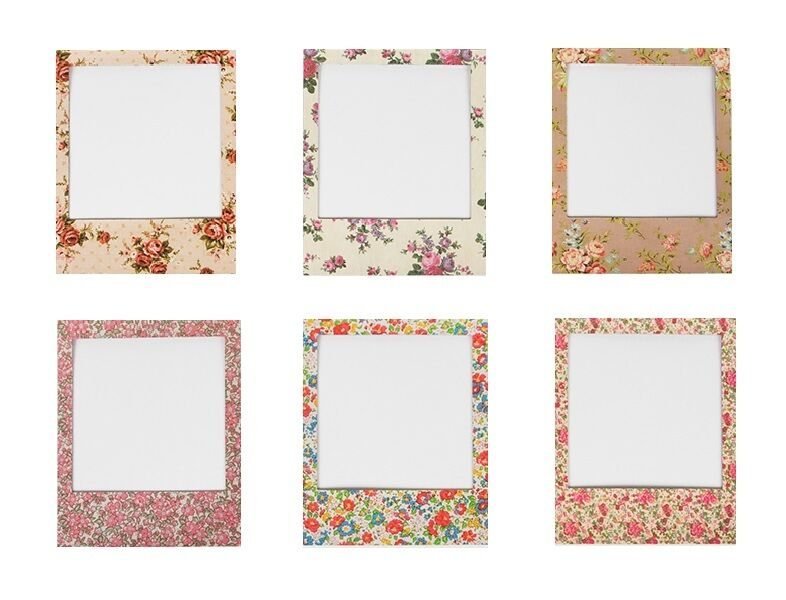 Sass Amp Belle Magnetic Floral Polaroid Photo Picture Frame