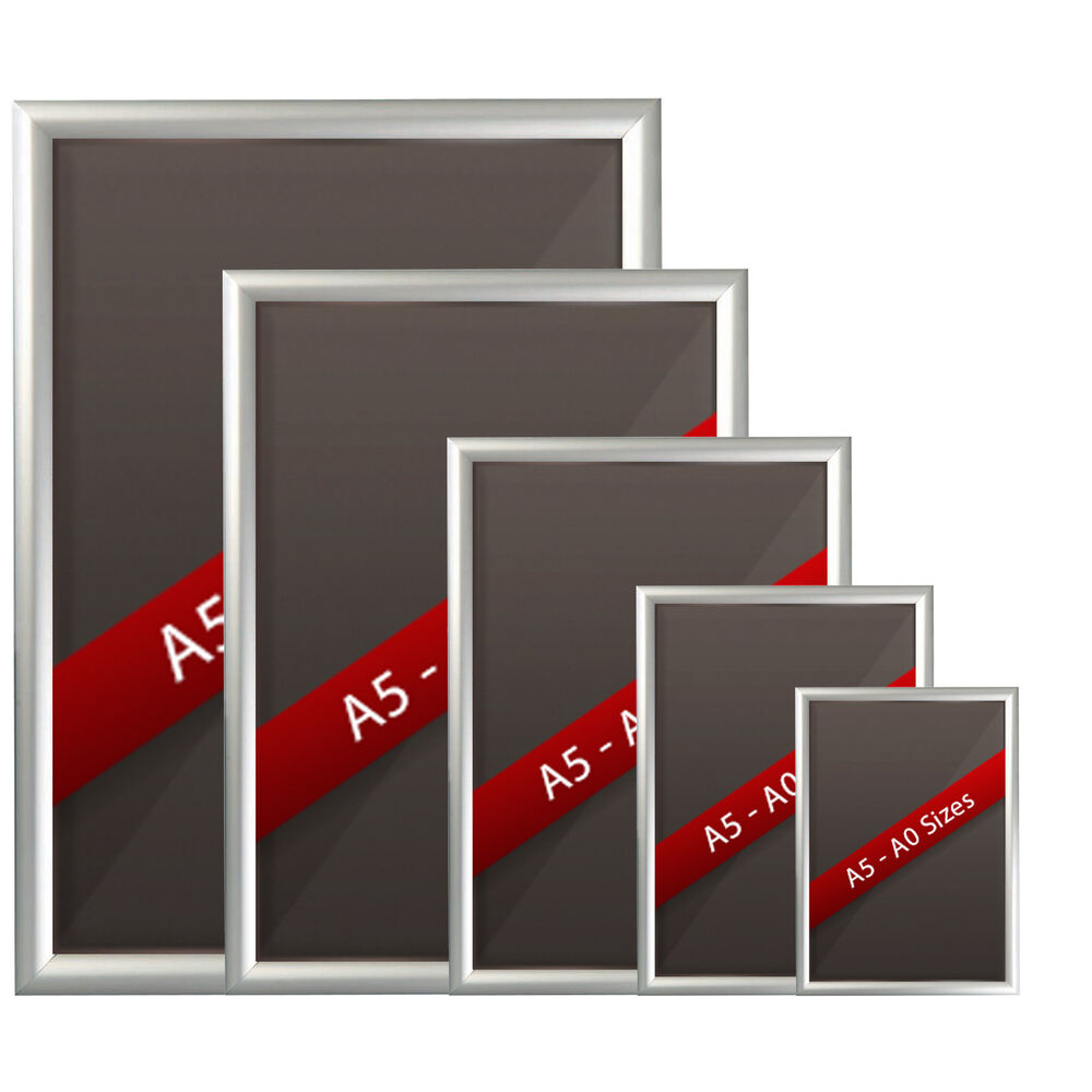 Silver Snap Frames Picture Poster Holders Clip Displays
