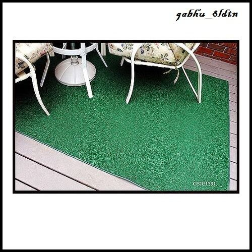 Indoor/Outdoor Green Artificial Grass Turf Area Rug 8'x12