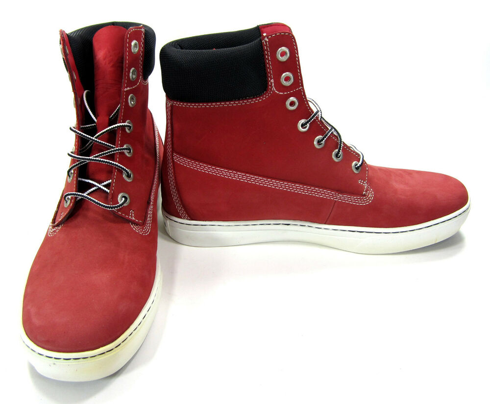 Timberland Shoes 6 Inch Premium Red/Black Boots Size 11 | eBay