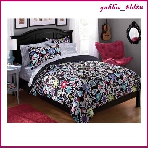Black And White Floral Bedding Twin