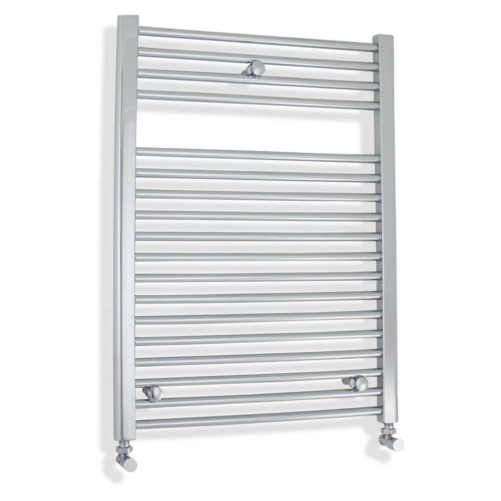600mm Wide 800mm High Straight Chrome Heated Towel Rail: 600 Mm Wide 800 Mm High Flat Ladder Chrome Heated Towel