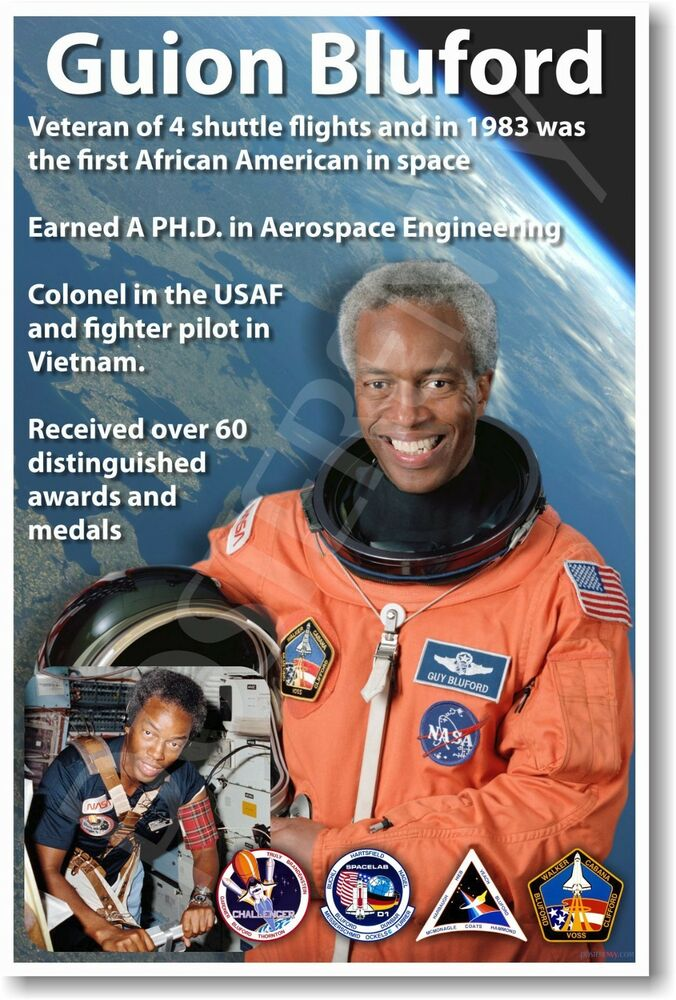 Guion Bluford - NEW NASA African American Astronaut Space ...