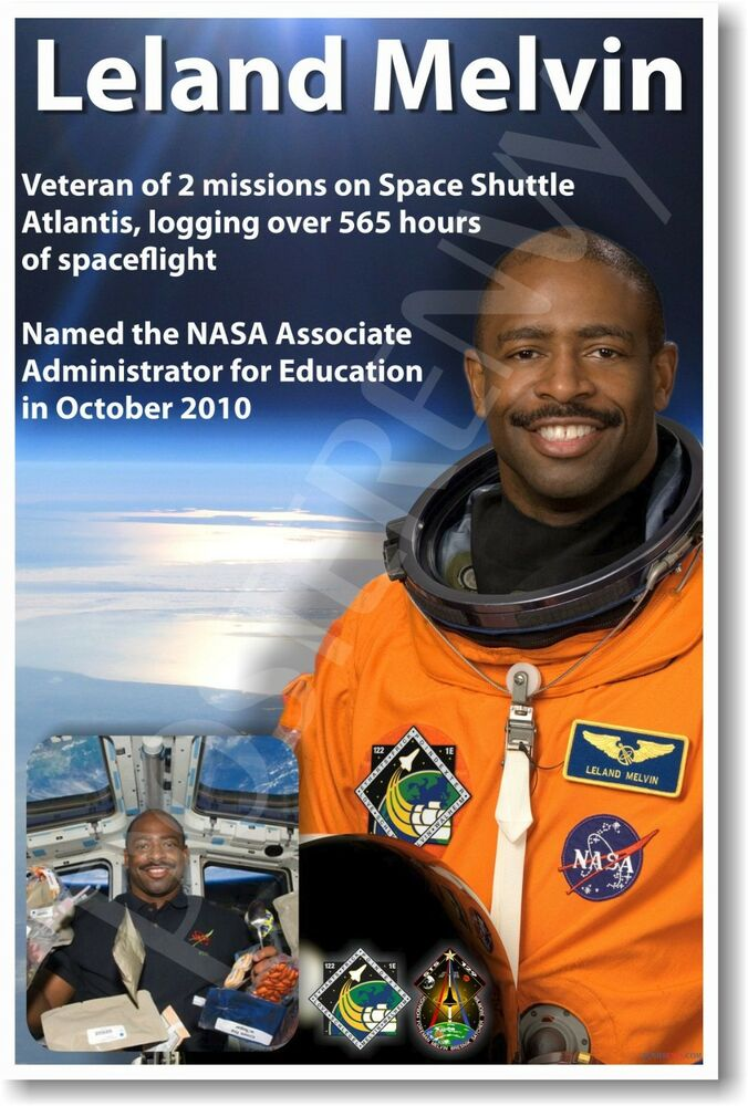 Leland Melvin - NEW NASA African American Astronaut Space ...