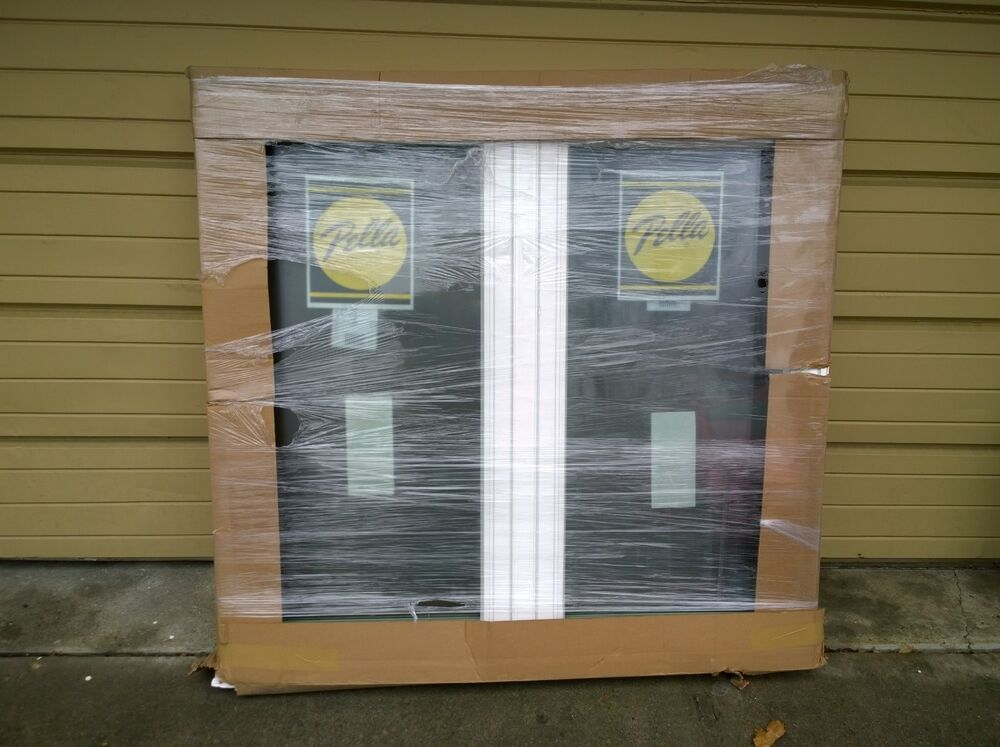 Brand new pella white vinyl double casement home window for Pella casement window screens