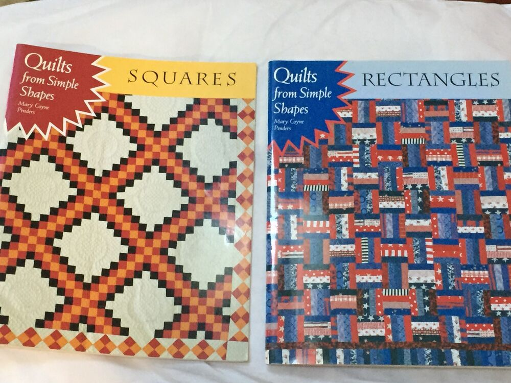 Quilt Patterns Squares And Rectangles : (2) Quilting books: Quilts from Simple Shapes, by Penders - Rectangles & Squares eBay