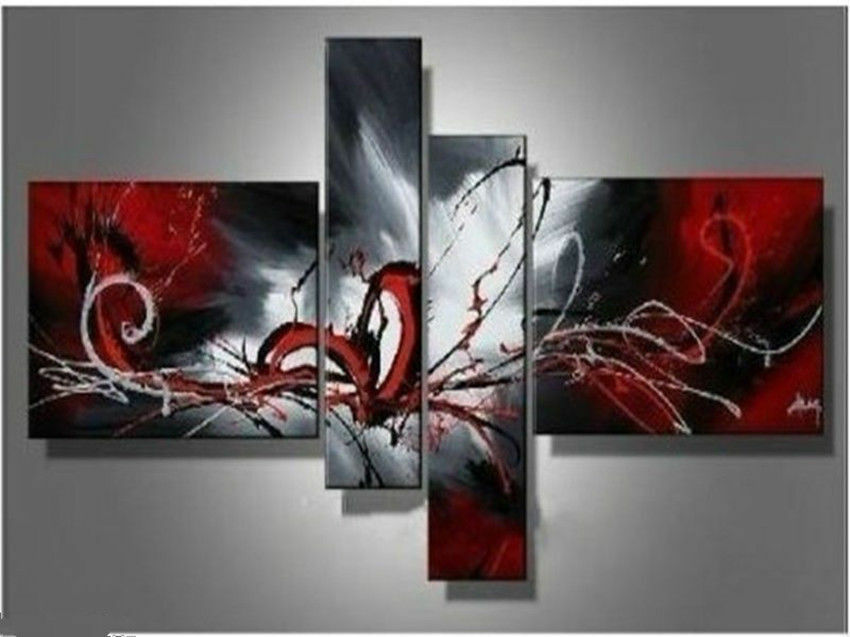 Oil Paintings Red Black White Home Decor Modern Abstract