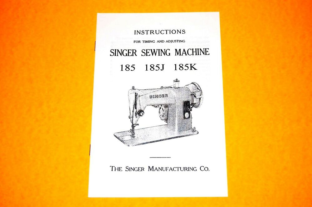 Instruction manuals for singer sewing machines