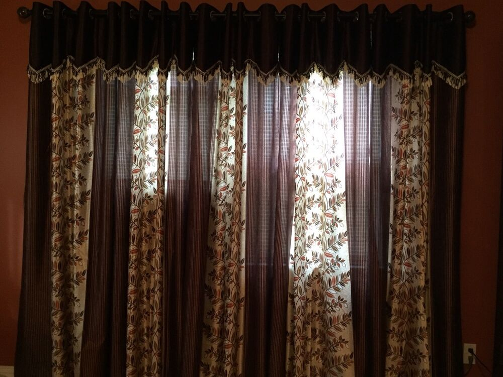 dark brown curtains 4 feet by 7feet ebay