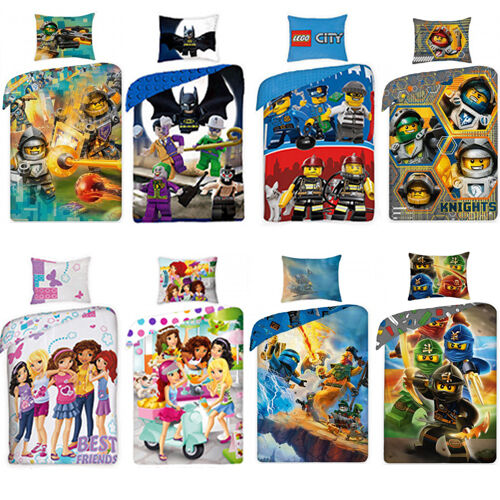 lego bettw sche friends city ninjago heroes 135x200 140x200 kinderbettw sche set ebay. Black Bedroom Furniture Sets. Home Design Ideas