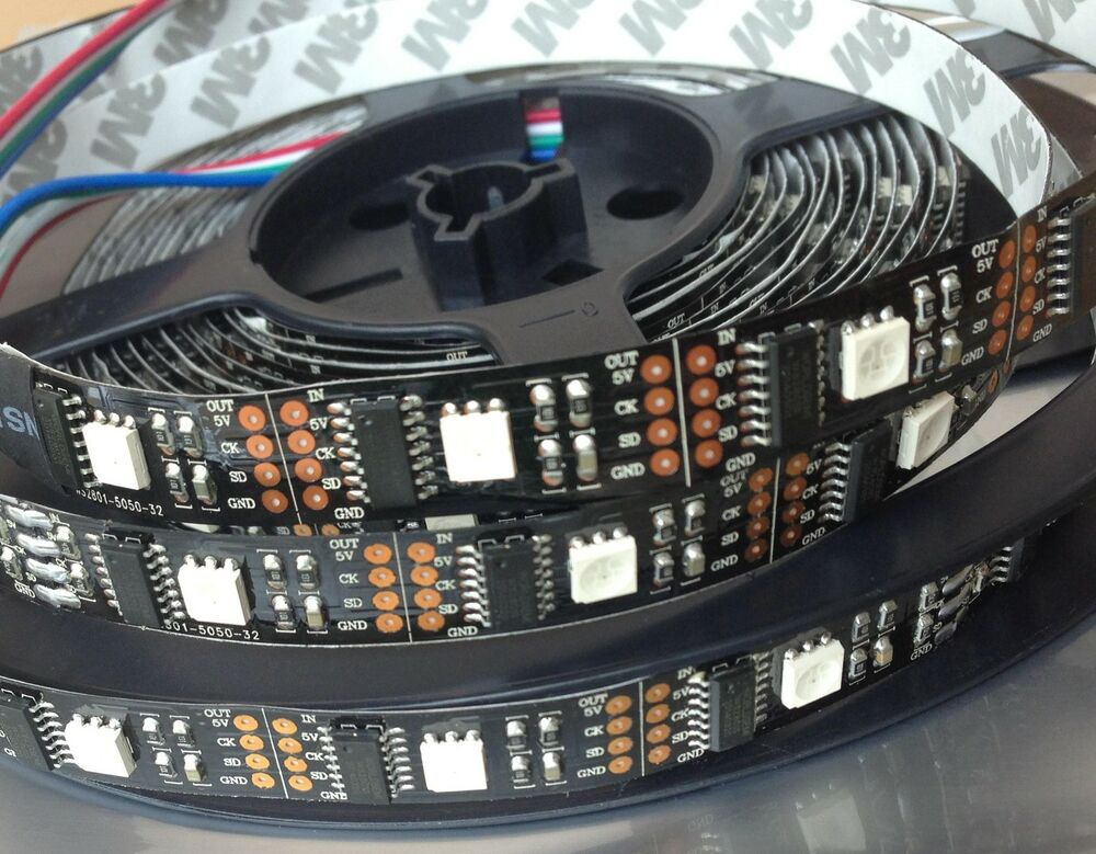 ws2801 rgb led strip adalight boblight ambi ambient tv. Black Bedroom Furniture Sets. Home Design Ideas