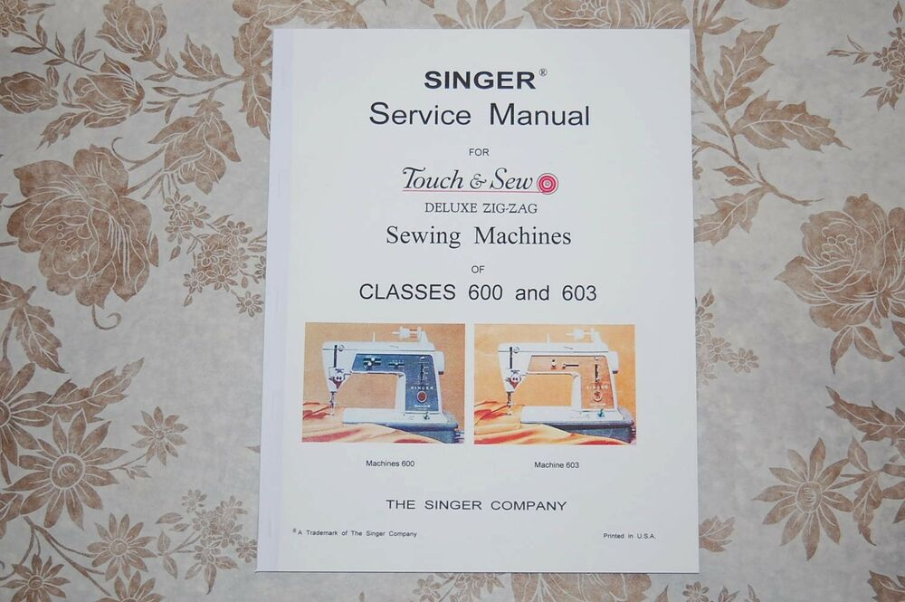 Instruction manual, singer 600: sewing parts online.