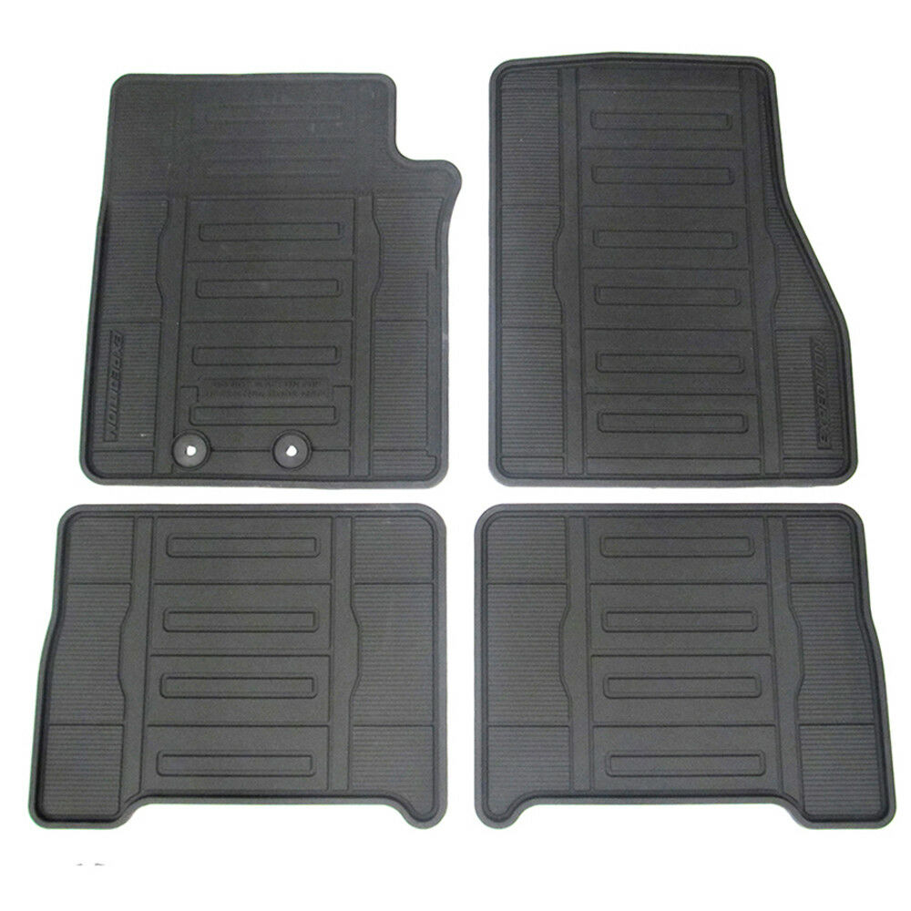 2015 2016 Ford Expedition Black All Weather Rubber Vinyl