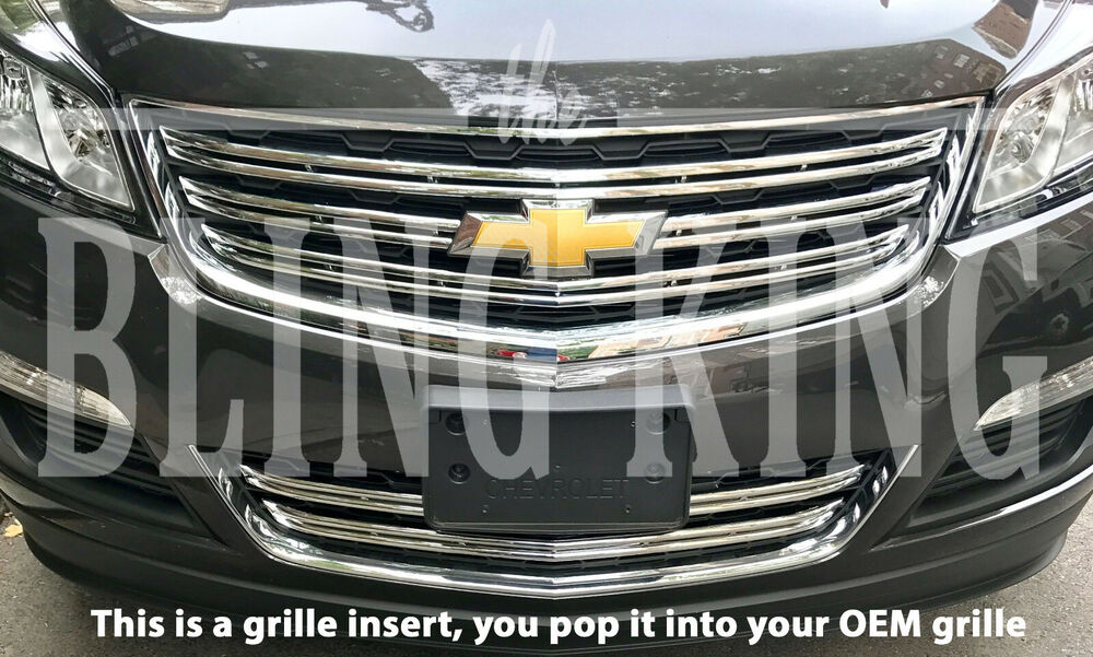 2013-2017 Chevy Traverse LS chrome grille grill insert ...