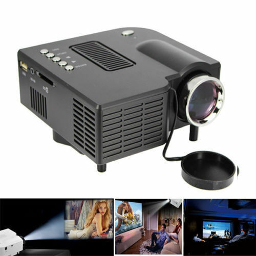 Home cinema theater set mini hd led projector w o for Small pc projector