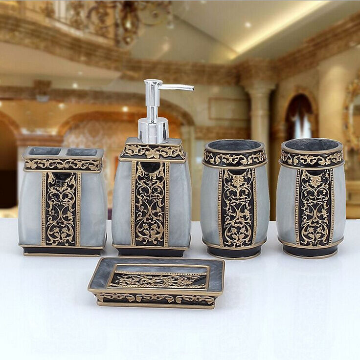 Bathroom accessories set bath cup shampoo soap toothbrush for Rack for bathroom accessories