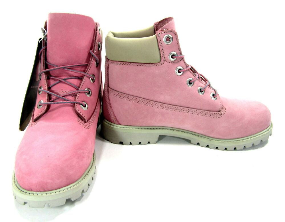 Timberland Shoes 6 Inch Premium Juniors Baby Pink Boots ...