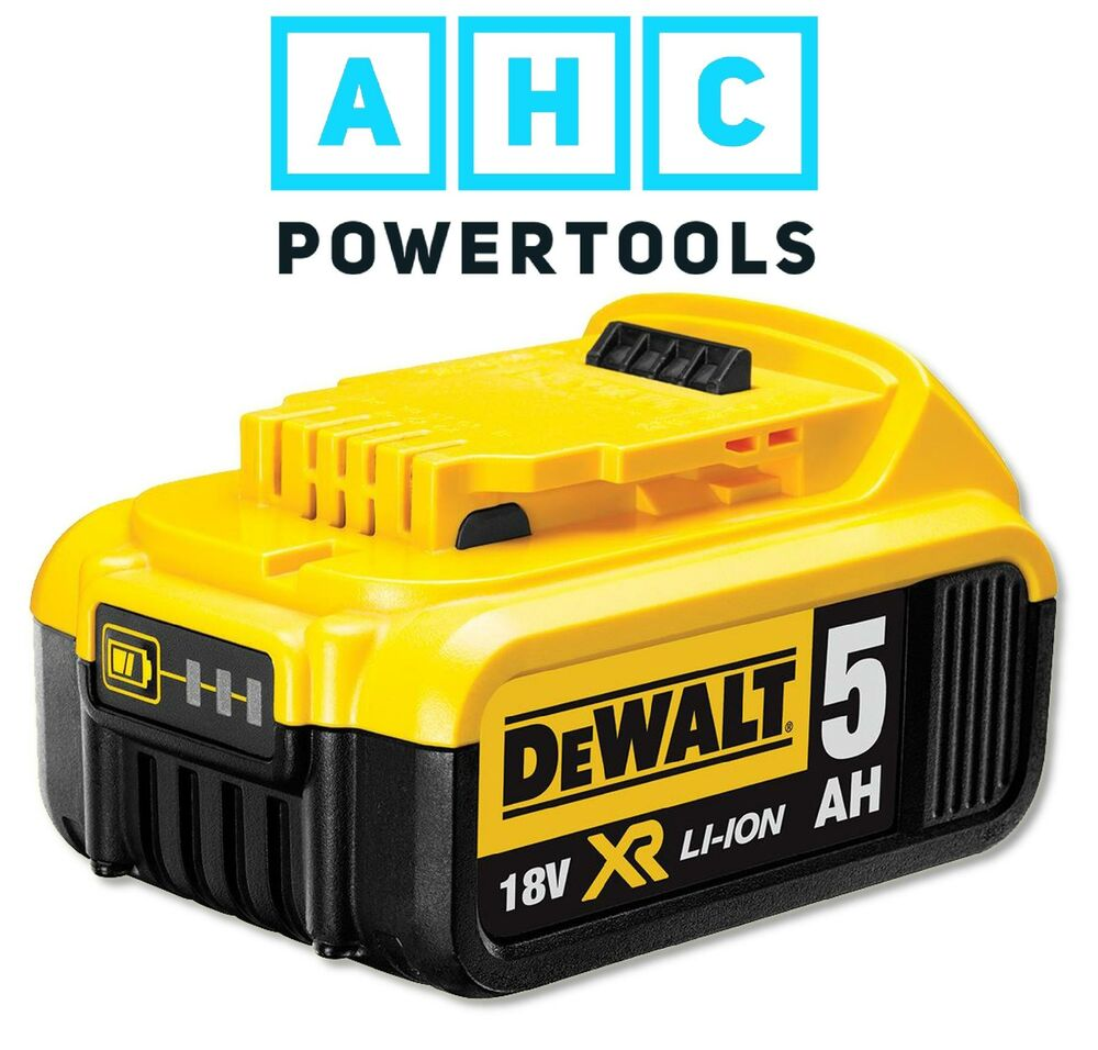 dewalt dcb184 18v xr li ion battery 5ah ebay. Black Bedroom Furniture Sets. Home Design Ideas
