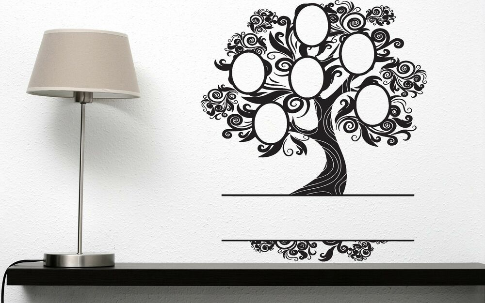 Photo Frame Family Tree Decal Wall Decals Wall Decor: Wall Sticker Vinyl Decal Heraldic Family Tree Frame