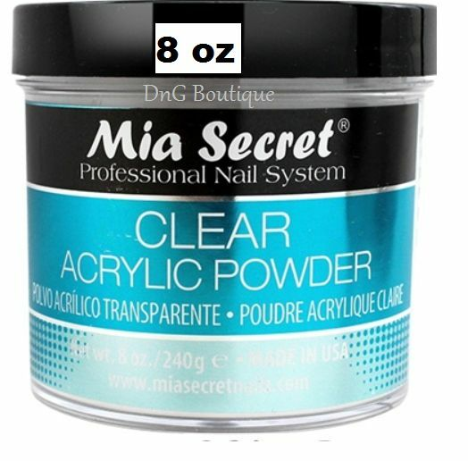 8 Oz Mia Secret Professional Acrylic Nail System -Clear