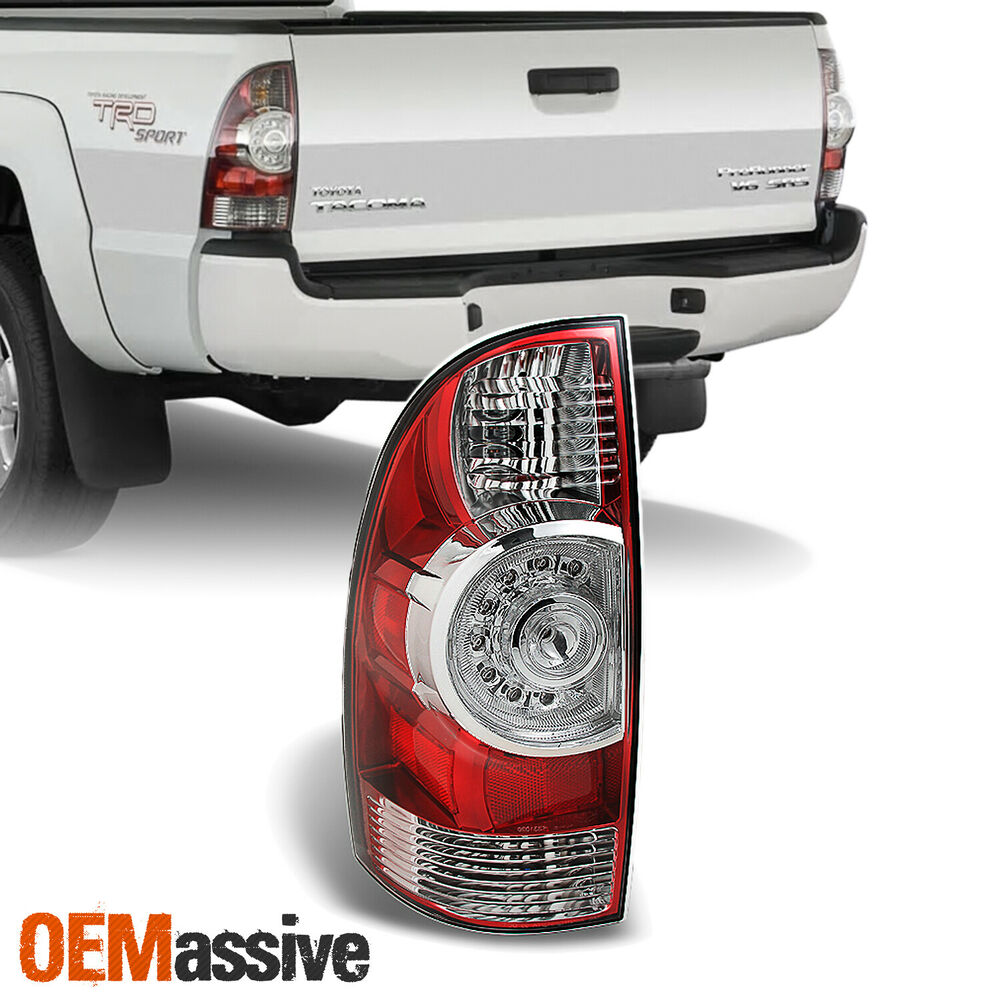 09 13 toyota tacoma pickup red clear led tail light left. Black Bedroom Furniture Sets. Home Design Ideas