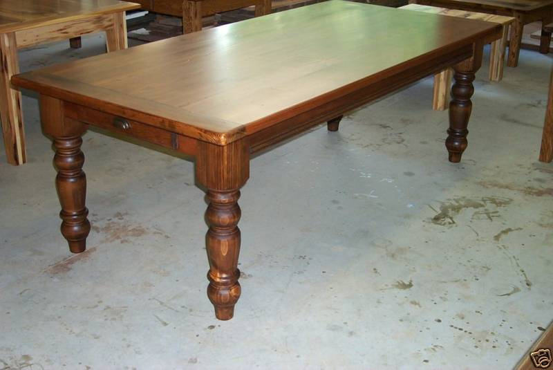 handcrafted antique heart pine harvest table farmhouse