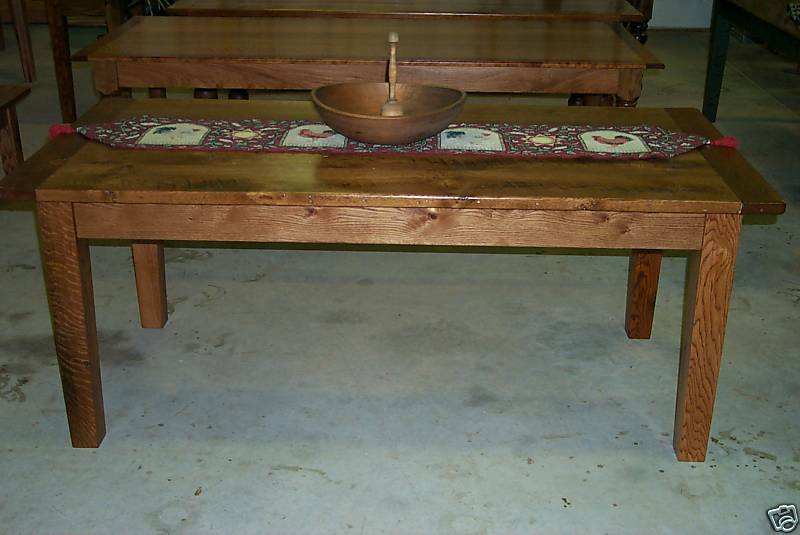 Antique Oak Harvest Dining Table Rustic Primitive Farmhouse Reclaimed