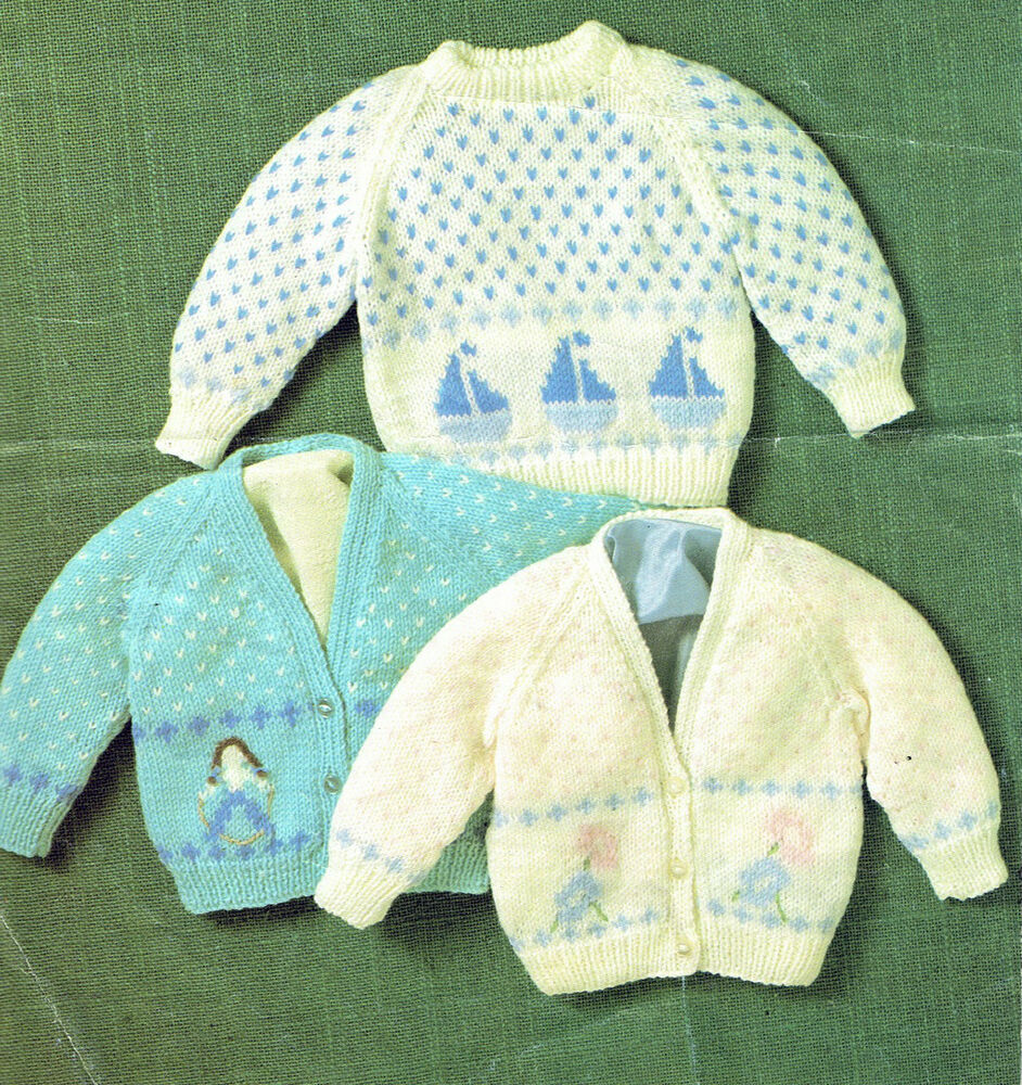 Knitting Pattern Jumper Toddler : Toddler Knitting Pattern:instructions-boat,yacht,flower motif jumper cardigan...