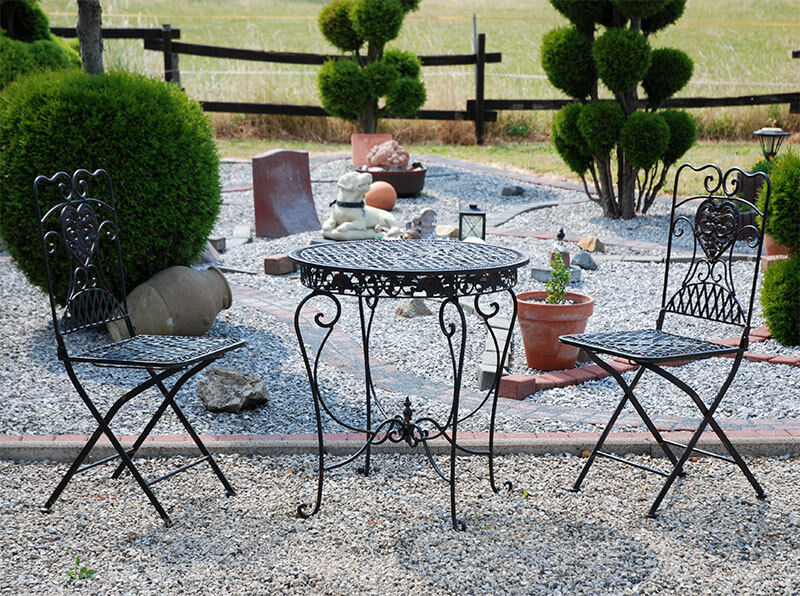 garten m bel f r grill saison metall sitzgruppe 2 x st hle tisch garnitur neu ebay. Black Bedroom Furniture Sets. Home Design Ideas