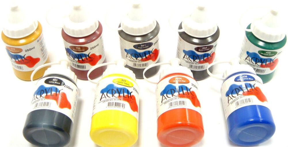 Acrylic Paint Pots Water Based Paints Acrylic Pots 250ml Waterbased Paint Pots Ebay