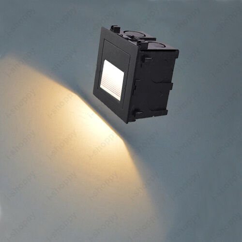Install Porch Light Junction Box: 1W LED Outdoor Wall Recessed Light Fixture Waterproof