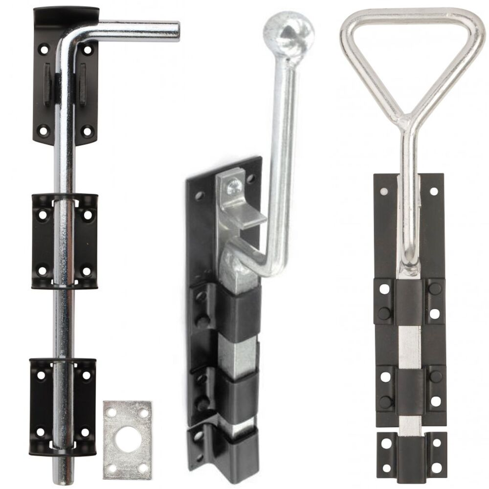 Garage Door Bolts Heavy Duty Drop Lock Stable Drive Gate