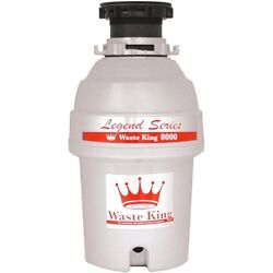 Waste King L-8000 Garbage Disposal Legend Series 1.0-Horsepower Continuous-Feed