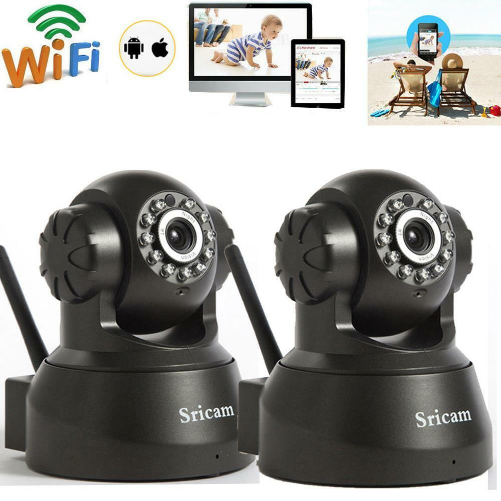 Sricam 720p hd wireless wifi ir cut outdoor network pan tilt ip camera day night ebay - Exterior home security cameras ...