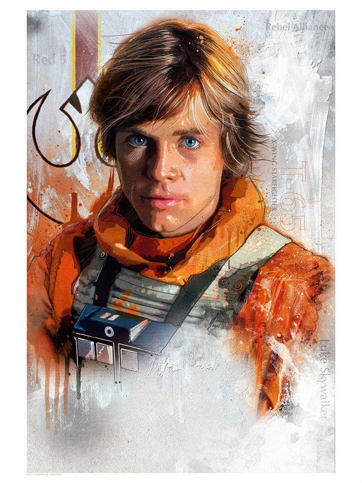 Luke Skywalker Rebel Pilot Star Wars Postmodern Art ...