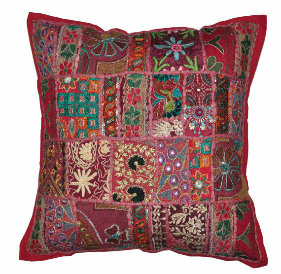 How Many Throw Pillows On A Sectional Couch : 20X20 XL Indian Tribal accent throw pillow Patchwork Pillows couch sofa pillows eBay