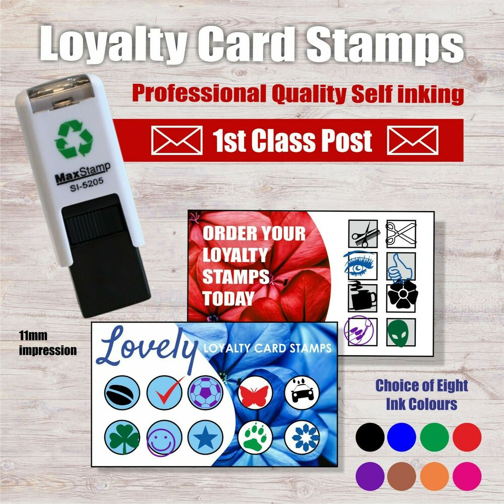 Details About Loyalty Card Rubber Stamp