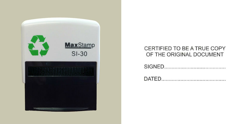 Certified True Copy Of The Original Document Self Inking