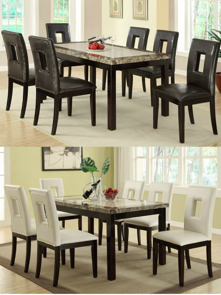 Dining chairs upholstered faux leather different color chair furniture
