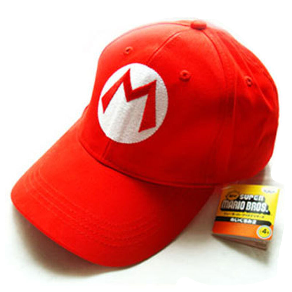 mario bros m mario cap sport baseball hat summer for